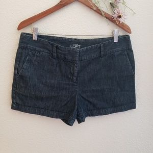 Loft Ann taylor Sz 10 trouser short Denim
